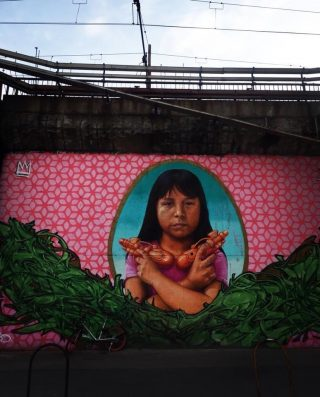 via padova murale santa sarita colonia